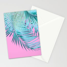 Palm Leaves Pink Blue Vibes #1 #tropical #decor #art #society6 Stationery Cards