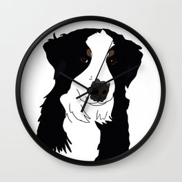Olive the Bernese Mountain Dog Wall Clock