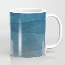 Imperial Blue Triangles Coffee Mug