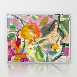 Pomegranate, Fruit and Flowers Laptop & iPad Skin