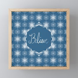 Winter Snow Believe Framed Mini Art Print