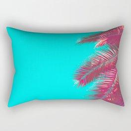 Neon Palm Rectangular Pillow