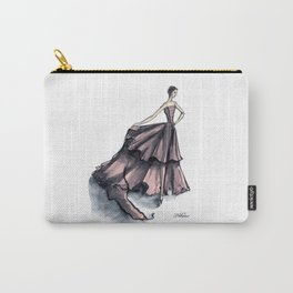 Audrey Hepburn in Pink dress vintage fashion Carry-All Pouch