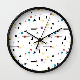 Abstract seamless pattern like Kandinsky Wall Clock