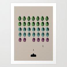 Faceinvaders Art Print