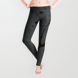 Black And Gray Abstract Jackson Pollock Inspired Study In Black - Gothic Glam - Corbin Henry Leggings