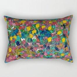 Thru the Paint Patch Rectangular Pillow