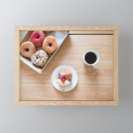 Donuts & Coffee Framed Mini Art Print