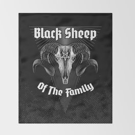 Black Sheep Of The Family Throw Blanket