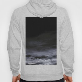 BLACK & BLUE & WHITE TOUCHING #2 #abstract #decor #art #society6 Hoody