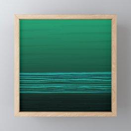 Horizon (green water) Framed Mini Art Print