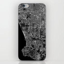 Los Angeles Black Map iPhone Skin