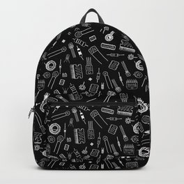 Circuit Components - White on Black Backpack
