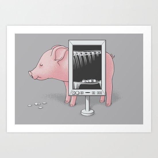 Saving money Art Print
