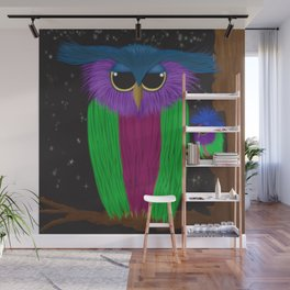 The Prismatic Crested Owl Wall Mural