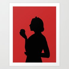 Snow White Silhouette  Art Print