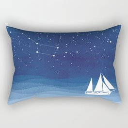 big dipper, sailboat Rectangular Pillow