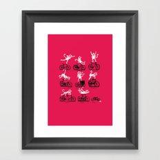 Singerie Framed Art Print