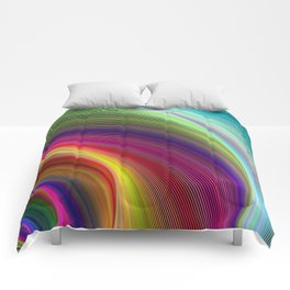 Vortex of colors Comforters