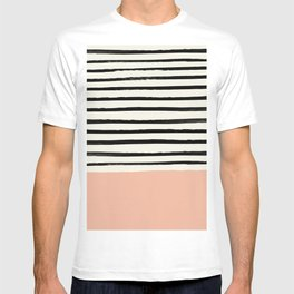 Peach x Stripes T-shirt