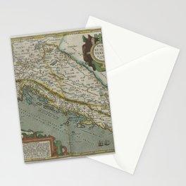 Vintage Map - Ortelius: Theatrum Orbis Terrarum (1606) - Pannonia & Illyria (Croatia / Balkans) Stationery Cards