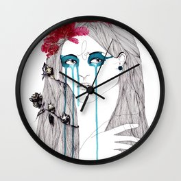 Painted Eyes Wall Clock