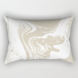 Pokiro - spilled ink abstract minimal swirl ocean watercolor marbled paper marble pattern texture Rectangular Pillow