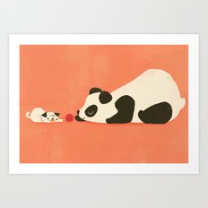 The Pug and the Panda Art Print