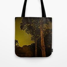 Blackened October Sunfall Tote Bag