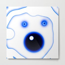 Wide Blue Eyed Polar Bear Metal Print