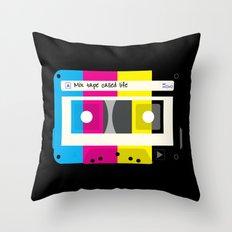CMYK Mix tape called life Throw Pillow