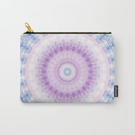 Pastel Purple and Blue Mandala Carry-All Pouch