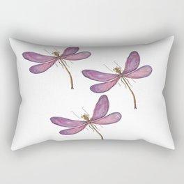 Violets Dragonflies Rectangular Pillow