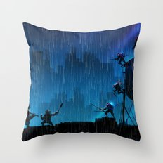 Rooftop Rumble Throw Pillow