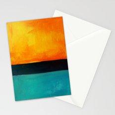 Mark Rothko Interpretation Orange Blue Stationery Cards
