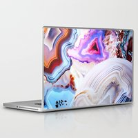 friend Laptop & iPad Skins featuring Agate, a vivid Metamorphic rock on Fire by Elena Kulikova