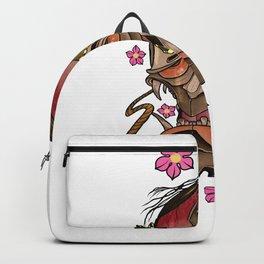 Japanese Hannya Mask, Sakura Blossom Backpack