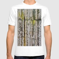 Moss Abstracted MEDIUM White Mens Fitted Tee