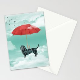 Dachshund chute Stationery Cards