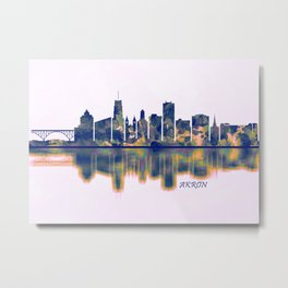 Akron Skyline Metal Print