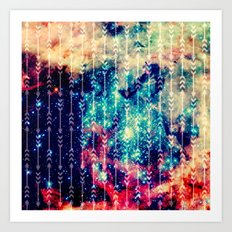 Galaxy Arrows Art Print