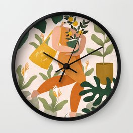 Plastic is for losers Wall Clock