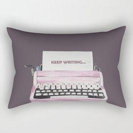 Watercolor Typing Machine Rectangular Pillow
