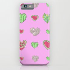 For the love of Watermelon - pink background iPhone 6s Slim Case