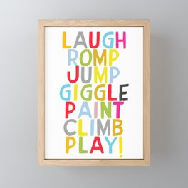 Jump Giggle Play! Framed Mini Art Print