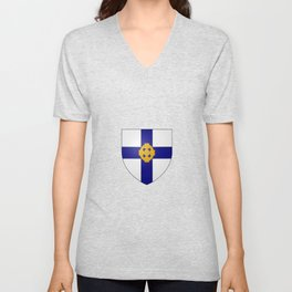 Coat of Arms of the Church in Wales  Unisex V-Neck