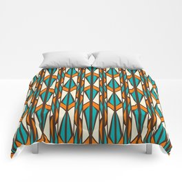 Twilight forest pattern in retro style Comforters