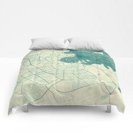 Doha Map Blue Vintage Comforters
