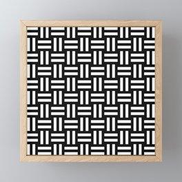 Equal White Framed Mini Art Print
