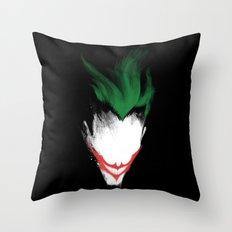 The Dark Joker Throw Pillow